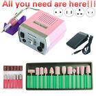 35000/20000RPM Electric Nail Drill Machine Set Pedicure Manicure Gel Remove File