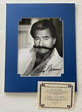 LeRoy Neiman signed Photo COA Matted ARTIST Famous MUSTACHE photograph ART PIC