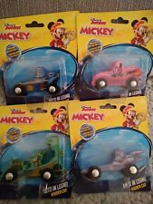 4x Disney junior Wooden Car set Mickey mouse and friends
