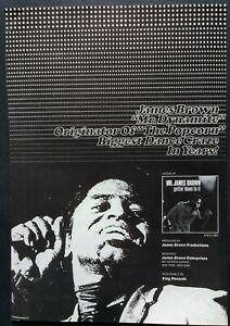 JAMES BROWN MR DYNAMITE GETTIN' DOWN TO IT VINTAGE 1969 PROMO AD
