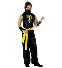 Power Ninja Faschingsköstüm Déguisement pour Enfant Garçons, Taille 140 CM, 8-10
