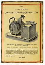 Reproduction Sewing Machine Girl Sign
