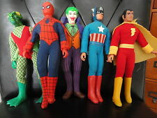 SPIDERMAN+CAPTAIN AMERICA+SHAZAM+JOKER+BONUS ORIGINAL 70's VINTAGE MEGO DOLLS