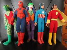 SPIDERMAN+CAPTAIN AMERICA+SHAZAM+JOKER+BONUS ORIGINAL 70's VINTAGE MEGO DOLLS