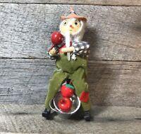 Vintage Kurt S Adler Folk Art Apple Straw Christmas Ornament Decoration Holiday