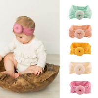 KQ_ KQ_ KE_ Kid Girl Baby Toddler Turban Solid Color Hat Cap Headband Hair Band