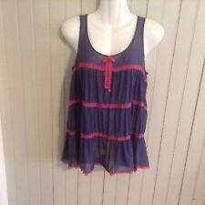 Vintage dark blue Jasmine & ginger med nightgown
