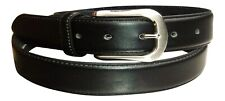"""Men's Black Leather Security Belt with Hidden Zip, 1.5"""" wide  Made by Milano"""
