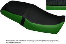 DARK GREEN & BLACK CUSTOM FITS YAMAHA SRV 250 DUAL LEATHER SEAT COVER