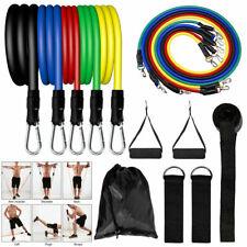 11 件装阻力带套装瑜伽普拉提腹肌练习健身管锻炼带