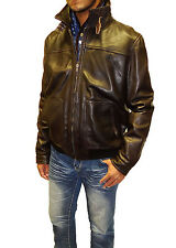 Tibor Design Leather Bomber Jacket