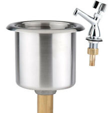 """7 1/8"""" Stainless Steel Dipper Well Sink Bowl & Faucet Kit Set Ice Cream Bar"""