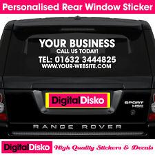 Bespoke Personalised Car / Van Rear Window Door Sign Writing Vinyl Sticker Decal