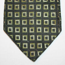 """NEW 62"""" Bachrach Silk Neck Tie Black with Green and Light Gray Pattern 1440"""