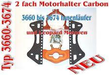 2 fach Carbon Motorhalter für 3660 bis 3674-er Innenläufer / Leopard Motoren