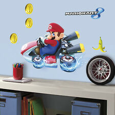 "SUPER MARIO KART WALL DECALS New Giant 25"" Stickers Kids Video Game Room Decor"