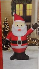 New 3ft 6in Led Lighted Self Inflatable Gemmy Santa Claus Airblown Inflatable