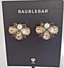 "NWT-MINT! BAUBLEBAR ""Kimi"" Crystal Bead Cluster Earrings/Silver Tone/Pale Pink"