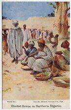 MARKET SCENE IN NORTHERN NIGERIA - All British Picture Co - c1920s era postcard