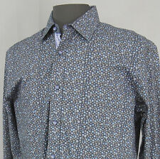 Sable & Stone - NEW - NWT Men's Long Sleeve Shirt Size Large - Navy Floral - 80A