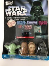 Star Wars Topps Candy Containers & 10 Collector Cards Blister Pack - MIP