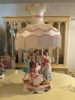 """Extra large Capodimonte Table Lamp 45"""" high. Excellent condition"""