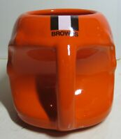 CLEVELAND BROWNS Helmet Shaped Ceramic Coffee Mug CLEAN Used - NFL Licensed