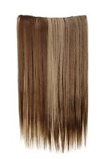 Postiche Extensions cheveux large 5 Clips dense lisse Brun-Blond-Mix 60 cm