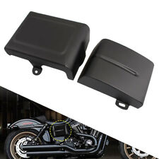 L & R Battery Side Covers For Harley Dyna Fat Street Bob Low Rider Super Glide