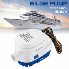 Automatic Submersible Boat Bilge Water Pump 12/24V 1100GPH Auto w/ Float Switch