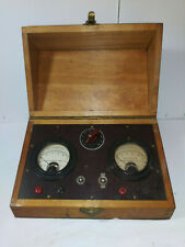 WESTON ELECTRICAL INSTRUMENTS CO., MODEL 301, mA D.C. & A.C. SET, WOOD CASE