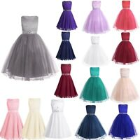 Flower Girl Princess Dress Kids Pageant Formal Party Wedding Birthday Gown Dress