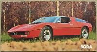 MASERATI BORA Sports Car Colour Plate Sales Specification Leaflet 1975