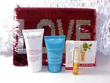 Clarins Beauty Set: Lotion 30 ml + Creme 15 ml + Lipgloss + Tasche