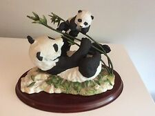 "Franklin Mint ""Pride and Joy! "" Panda Bears By Renowned Artist David Shinn"
