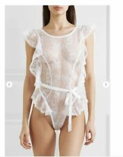 $625 NEW Agent Provocateur Fee Teddy Body White Silk Lace Lingerie Bridal