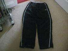 Boys SLAZENGER black & grey tracksuit bottoms trousers age 11-12 FREE POSTAGE