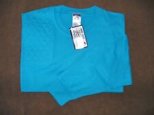 Xl Right Hand Trap/Skeet Pad Aqua Long Sleeve 50/50 Blend Shooting T-Shirt
