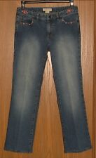 WOMENS MICHAEL KORS STUDDED STRAIGHT LEG STRETCH JEANS SIZE 6 !! AWESOME !!