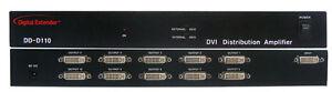 RTcom Digital Extender DD-D110N DVI Distribution amplifier 1x10 DA