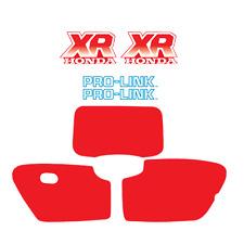 1987 Honda XR 250 Decal Kit AHRMA Gas Tank, Swingarm and Number Plates