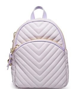 Betsey Johnson Kitsch Pretty in Pastels Purple Quilted Medium Backpack Charms