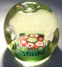 MURANO FRATELLI TOSO ?  GLASS  DIMPLE PAPERWEIGHT