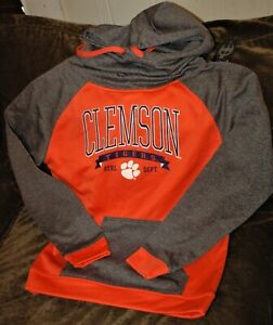 Clemson Tigers hoodie sweatshirt women's small NEW with Tags Champion orange