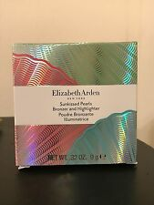 Elizabeth Arden Sunkissed Pearls Bronzer & Highlighter .32oz Deep Pearl # 02 NIB