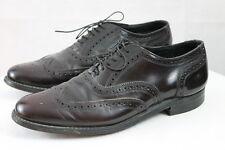 Men's Stuart McGuire Dark Burgundy Brown Wing Tip Leather Oxford Dress Shoes 9D