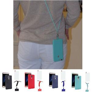 TPU Handyhülle mit Band Bumper Schutz Case Handy Tasche Handykette zum Umhängen
