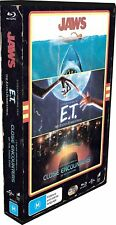 Jaws + Et + Close Encounters Of The Third Kind (Reg Free) Blu-ray Vhs Case