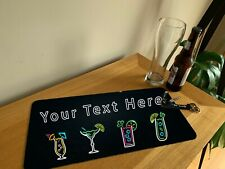 PERSONALISED Bar Beer Runner Mat - Any Name Text Pub Runner