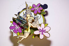 Disney Pins - Wdw - 2009 - White Glove - Tinker Bell with Flowers - Le 1000